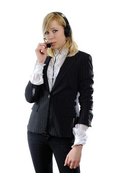 Free Young Woman With Headphones Stock Photos - 17810863