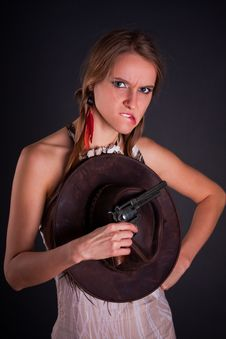 The American Indian Girl Stock Photos