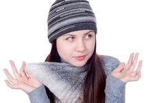 Free The Girl In A Scarf Stock Photo - 17811140