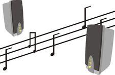 Free Musical Columns Royalty Free Stock Photos - 17811468