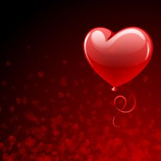 Free Transparent Red Heart Balloon Royalty Free Stock Image - 17811486