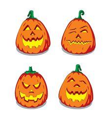 Halloween Pumpkin Faces Stock Photo