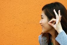 Free A Chinese Girl Who Is Hearing The Voice Stock Images - 17812154