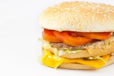 Free Cheese Burger Stock Photography - 17812352