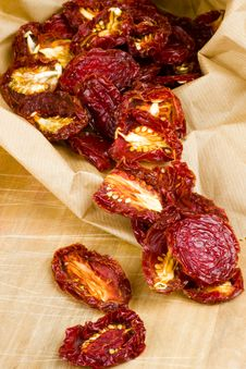 Sun-dried Red Plum Tomatoes Stock Photo