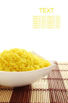 Free Dish With Yellow Rice Royalty Free Stock Photo - 17812535