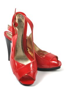 Free Woman Red Shoe Royalty Free Stock Photos - 17812548