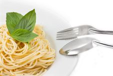 Free Spaghetti With Fork Stock Images - 17812604