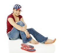 Free Displaying Her Colors Stock Photography - 17812782