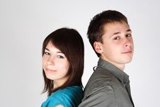 Free Young Brunette Girl And Man Royalty Free Stock Photography - 17813757