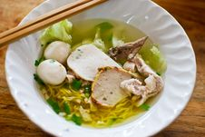 Asian Style Noodle Stock Photography
