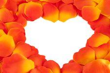 Free Rose Petal Heart Stock Photos - 17814623