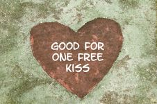 Free Good For One Free Kiss Stock Photos - 17814713