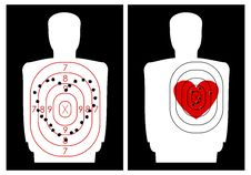 Free Target-shooting With A Heart Royalty Free Stock Photos - 17814868