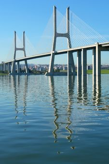 Free View Of Lisbon S Vasco Da Gama Bridge Royalty Free Stock Photography - 17815837