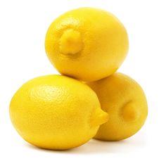 Free Three Lemons Royalty Free Stock Photo - 17816035