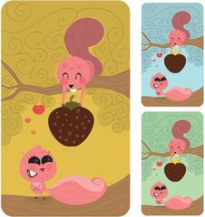 Free Squirrel Love Couple, Valentines Gift Stock Photos - 17816133