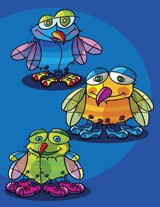 Free Flies Cartoon Royalty Free Stock Photos - 17816168