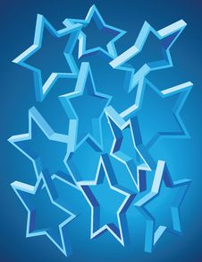 Free Stars Pattern Royalty Free Stock Images - 17816169