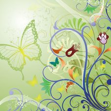 Floral And Butterfly Stock Photos