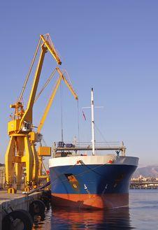 Cargo Dock Royalty Free Stock Photos
