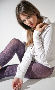 Free Teenage Model In Fashionable Outfit Royalty Free Stock Images - 17816849
