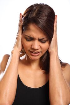 Pain Hurt And Disbelief From Young Woman Royalty Free Stock Photo