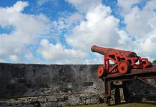 Red Cannon Royalty Free Stock Photography