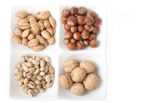 Free Four Kinds Of Popular Nuts Royalty Free Stock Photography - 17818497