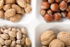 Free Four Kinds Of Popular Nuts Royalty Free Stock Images - 17818549