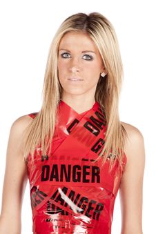 Free Danger Woman Upper Body Serious Royalty Free Stock Photos - 17818848