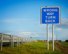 Road  Sign   Wrong Way  Stock Image