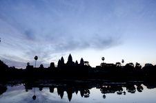 Free Sunrise At Angkor Wat Stock Photography - 17819542