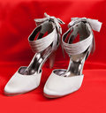 Free Pair Of White Women S Shoes Stock Images - 17821034
