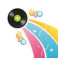 Free Colorful Vinyl Record Background Royalty Free Stock Photography - 17822477