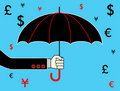 Free Hand With Umbrella Royalty Free Stock Photography - 17826097