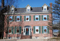 Free Brick Colonial Decorated For Holidays 97 Stock Image - 17826501