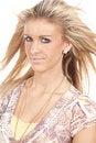Free Woman Slight Smile Hair Blow Stock Photos - 17826933