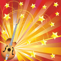 Free Abstract Background With A Guitar. Stock Image - 17826951