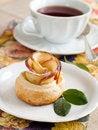 Free Apple Cake And Tea Stock Photo - 17829470