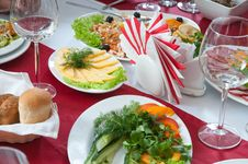 Free Meal And Glasses. Stock Photography - 17820032