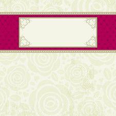 Beige Valentine Background, Royalty Free Stock Image