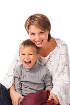Free Charming Woman With A Son Stock Image - 17820731
