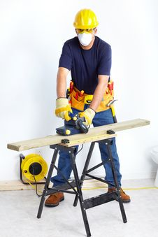 Mature Contractor Royalty Free Stock Photo
