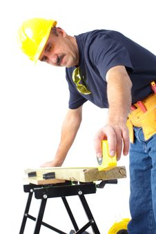 Free Worker. Construction Royalty Free Stock Photo - 17821035