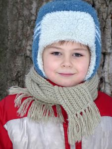 Free Portrait Of A Boy In Winter Clothing Stock Photography - 17821142