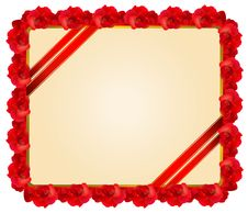 Free Red Rose Frame Stock Images - 17821434