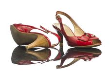 Free Red Shoe Royalty Free Stock Photo - 17821525