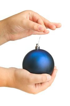 Ball In Child Hand Stock Photos