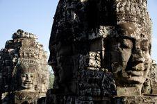 Free Bayon Face, Cambodia Royalty Free Stock Photography - 17821837
